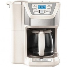 12-Cup, Mill and Brew, Programmable Coffee Maker With Grinder, White by BLACK+DECKER