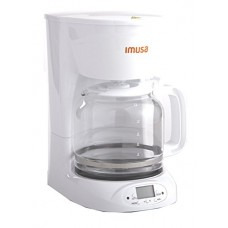 IMUSA USA GAU-18210W Programmable Coffee Maker 12-Cup, White