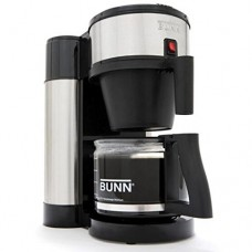Kitchen Small Appliance Bunn NHS 10-cup Black Stainless Steel Coffee Brewer Coffeemaker