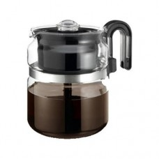 "One-All Stovetop Percolator 8 Cup 7"" Dia. X 5.6"" H Black Handle"