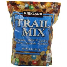 Kirkland Trail Mix, Peanuts, M and M Candies, Raisins, Almonds and Cashews, 4 Pound
