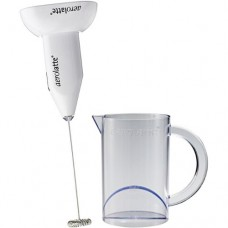 Aerolatte White Handheld Milk Frother with Stand and Frothing Jug