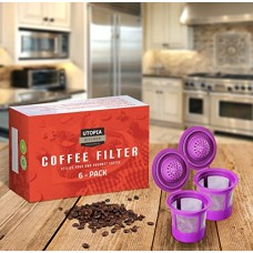 Utopia Kitchen Refillable Coffee Filter - Pack of 6 Reusable Stainless Steel Mesh Coffee Filter Pod