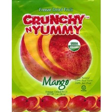 Crunchy N Yummy Organic Freeze Dried Fruit Mango (Pack of 6)