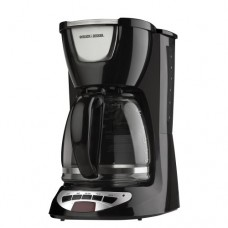12-Cup Programmable Coffeemaker with Glass Carafe, Black