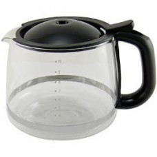 KRUPS XS1500 Glass Carafe for KRUPS Combi Machines, 10-Cup, Black