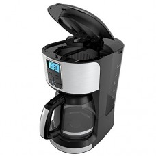 BLACK+DECKER 12-Cup Programmable Coffeemaker, Stainless Steel, CM4100S