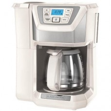 Black & Decker CM5000WD Mill & Brew Programmable Coffee Maker, White