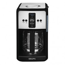 Krups Turbo Savoy Black 12 Cup Programmable Coffee Maker