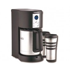Hamilton Beach Stay or Go Custom Pair Coffee Maker - Programmable - 10 Cup(s) - Black - Stainless Steel
