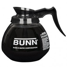 BUNN 5850 Commercial Glass Decanter with Handle, Black