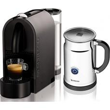 Nespresso U D50 Mat Grey Espresso Machine with Aeroccino Plus Milk Frother