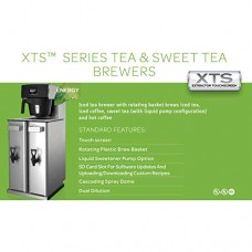 Fetco TBS-2121XTS Twin 3.5 Gallon Iced Tea Brewer Sweetener System 120V