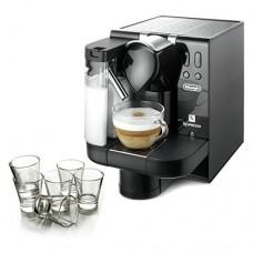 DeLonghi Lattissima Nespresso Black Capsule Espresso and Cappuccino Machine with Free Set of 6 Glasses