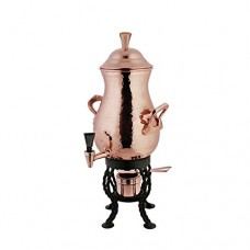 "Copper Coffee Urn 50 Cup Hammered Copper - 11"" Dia x 23 1/2 H"